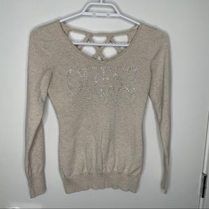 🎁4/20$🎁 Guess sparkly strappy back sweater